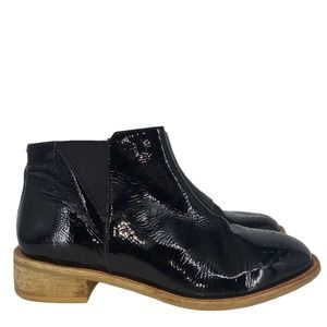 Elk Womens Leather Block Heel Ankle Boots Size 39